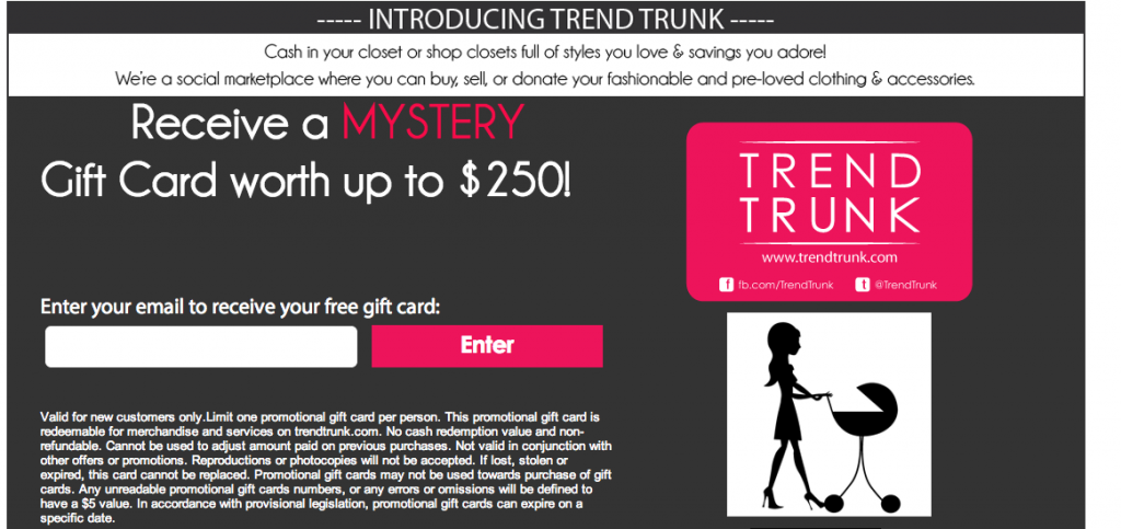 trend trunk mystery gift card giveaway strolling the city in heels. Black Bedroom Furniture Sets. Home Design Ideas