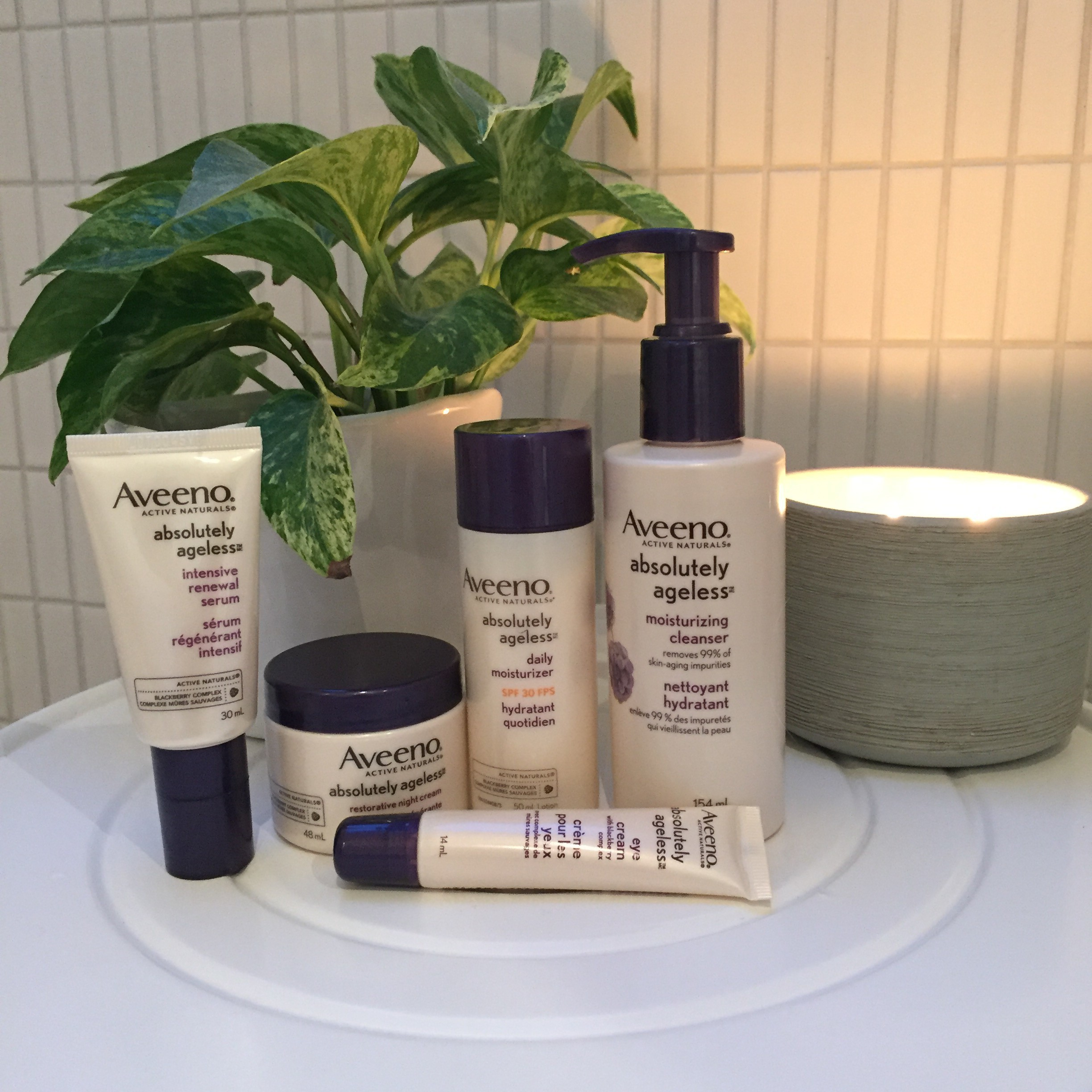 Aveeno Absolutely Ageless Skincare Line - Strolling the City in Heels